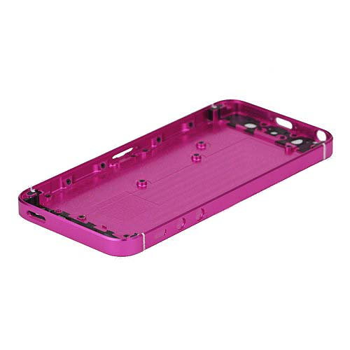 OEM Electroplating Metal for iPhone 5 Housing Rear Case +Side Buttons +SIM Card Tray -Purple