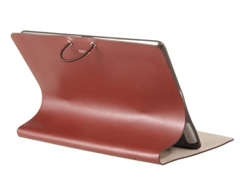 Evouni Leather Protective Case with Stand Function for iPad 2 -Brown