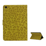 Excellent Leopard Folio Stand Leather Wallet Case for iPad Mini - Yellow
