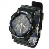 Fashion EL Light 30M Waterproof Dual Time Analog Double Digital Sports Watch - Black