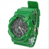 Fashion EL Light 30M Waterproof Dual Time Analog Double Digital Sports Watch - Green