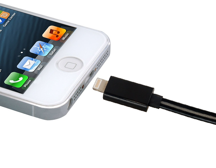 Flashing/Glow Lightning Cable for iPhone 5 -Black