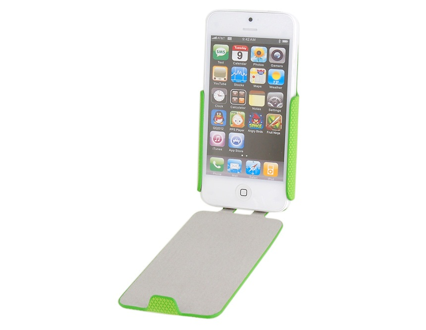 Flip Protective Case for iPhone 5 -Green