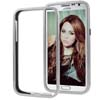 for Samsung Galaxy Note 2 N7100 Aluminum Slide-On Metal Bumper Case- Silver