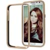 for Samsung Galaxy Note 2 N7100 Aluminum Slide-On Metal Bumper Case-Gold