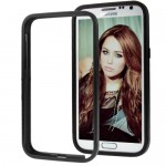 for Samsung Galaxy Note 2 N7100 Aluminum Slide-On Metal Bumper Case  - Black