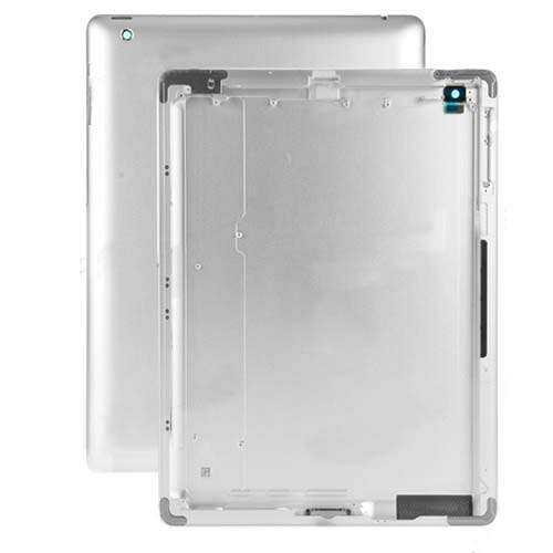 For iPad 4 Wi-Fi Aluminum Back Cover Replacement - Silver