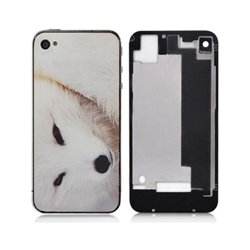 for iPhone 4S Snow Fox Back Cover  (Black Bezel)
