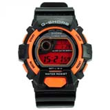 G-SHORS Multi-functional LED Light 30M Waterproof Calendar Alarm Digital Sports Watch -Orange