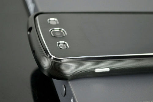 Galaxy SIII i9300 Aluminium Bumper with back cover-Black