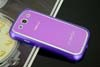 Galaxy SIII i9300 Aluminium Bumper with back cover-Purple /White