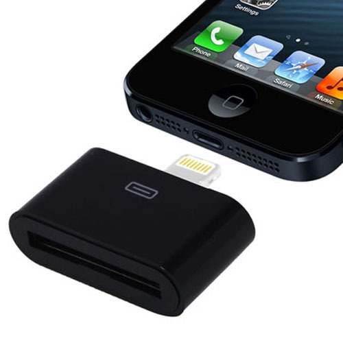 Generic Lightning to 30 pin Adapter for iPhone 5 -Black