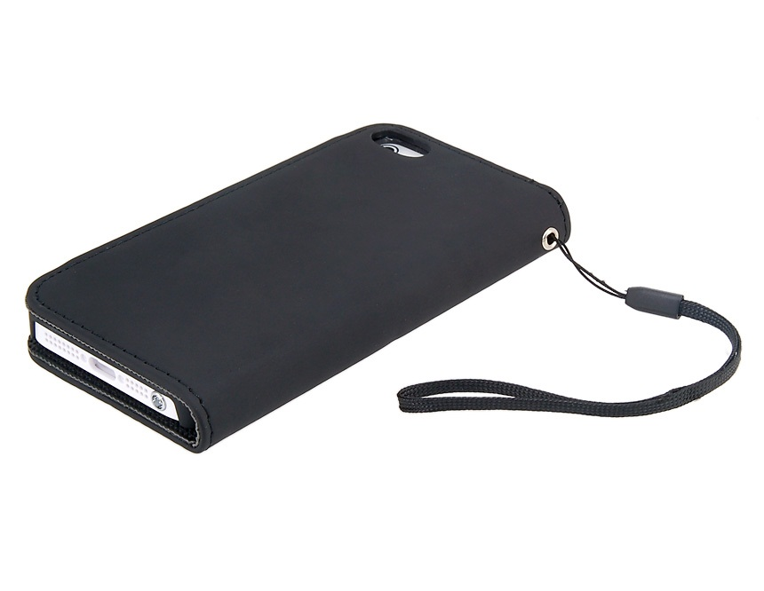 Glossy Surface Design Synthetic Leather Protective Flip Case w/ Magnetic Snap for iPhone 5-B