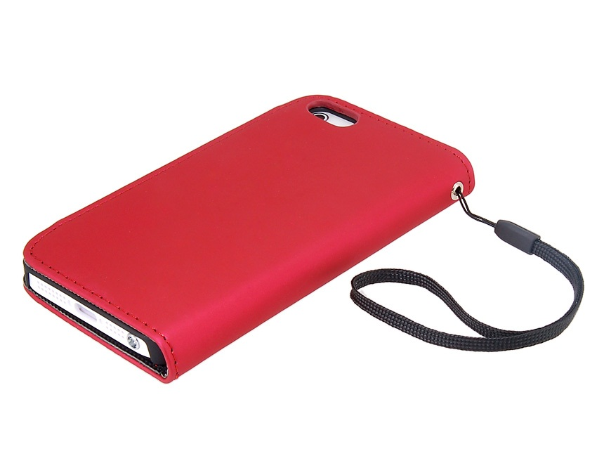 Glossy Surface Design Synthetic Leather Protective Flip Case w/ Magnetic Snap for iPhone 5 -