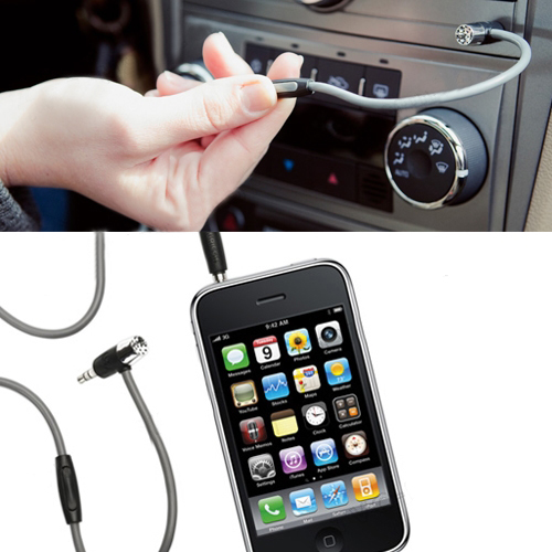 Hands-free Mic and AUX Cable for iPhone for Samsung and Other Smartphones OEM
