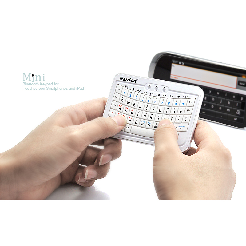 Mini Bluetooth QWERTY Keyboard for Touchscreen Cellphones and iPad