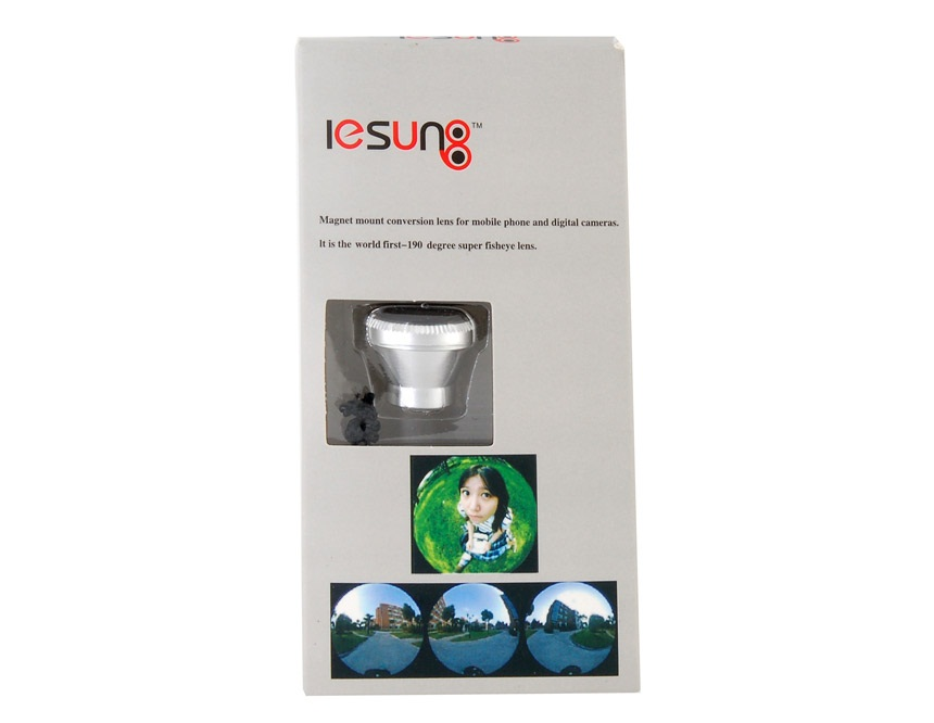 Lesung 190 Degrees Super Fisheye Jelly Camera Lens Strap Ornaments for iPhone 4/4S -Grey