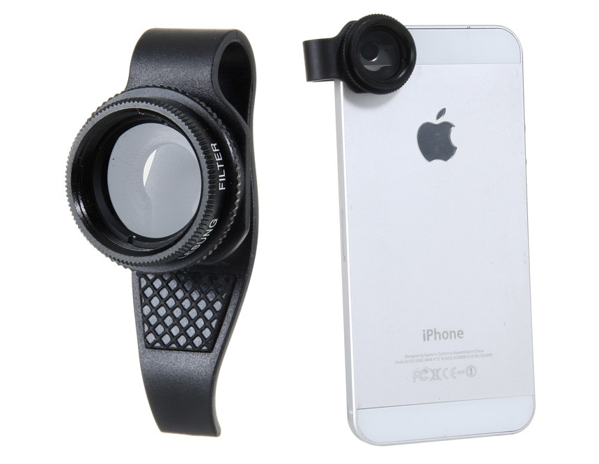 Lesung Filter Lens, External Effects Camera for iPhone 4/4S/5 Polarize Lens -Black