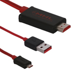 MHL Micro USB to HDMI Adapter Cable for Samsung i9100 Galaxy S 2 HTC Sensation Flayer