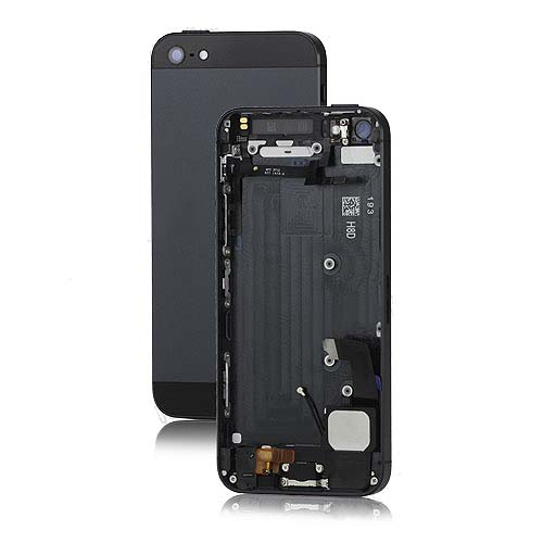 Metal for iPhone5 Back Cover Housing Assembly w/ Middle Frame Bezel and Other Parts -Black/Sla
