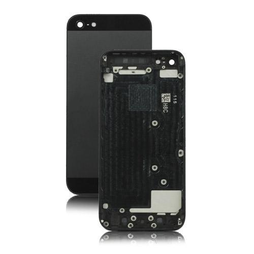 Metal for iPhone 5 Back Cover Housing with Middle Frame Bezel - Black / Slate (OEM)