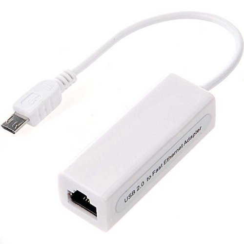 "Micro USB 5PIN to RJ45 Ethernet Adapter for Phone, Tablet 7""/8""/10"" inch"