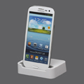 Micro USB Charging Dock Cradle Stand for Samsung i9300 Galaxy S3 Siii - White