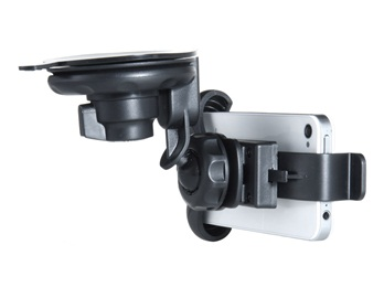 Multi-function Car Holder with Suction Cup for iPhone 5 -Black