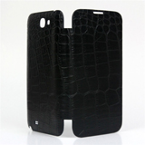 N7100 Crocodile Leather Cover -Black