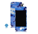 Navy Camouflage Skin Conversion Kit for iPhone 4S (LCD Assembly + Battery Cover + Home Butto
