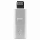 8 Pin 8 Pin to Micro USB Connection Adapter -White