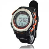 New Solar Power Energy 100M Waterproof Digtal Sports Watch - Orange