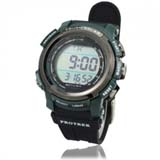 New Solar Power Energy 100M Waterproof Digtal Sports Watch - Green