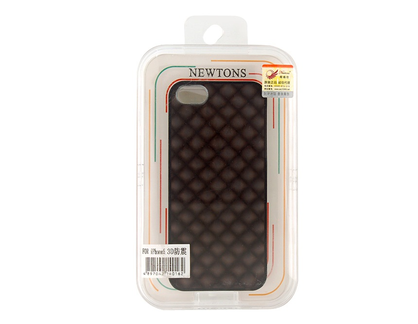 Newtons 3D Water Cube Shock-proof Protective Case for iPhone 5 -Black