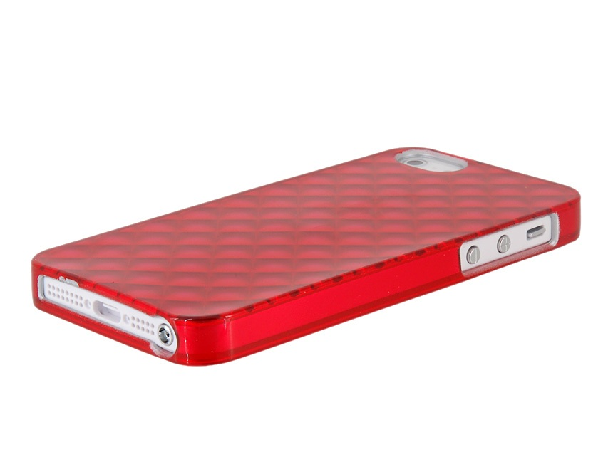 Newtons 3D Water Cube Shock-proof Protective Case for iPhone 5 -Red