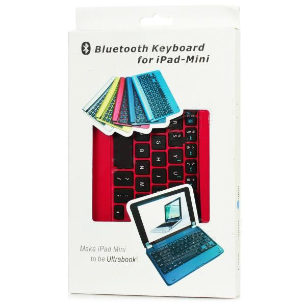 OEM iPad Mini Wireless Slim Magnetic Keyboard (Bluetooth, Aluminum Alloy, Foldable) -Red
