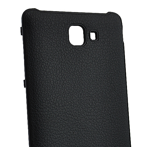 PU Leather Battery Back Cover for Samsung Galaxy Note i9220 GT-N7000 - Black