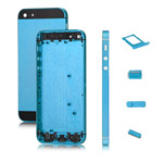 OEM Colored Plated Metal Alloy Full Housing Cover +Side Buttons +SIM Card Tray for iPhone 5