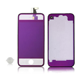 Plated mirror Transparent Purple Conversion Kits for iPhone 4s