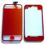 Plated mirror Transparent Red Conversion Kits for iPhone 4s