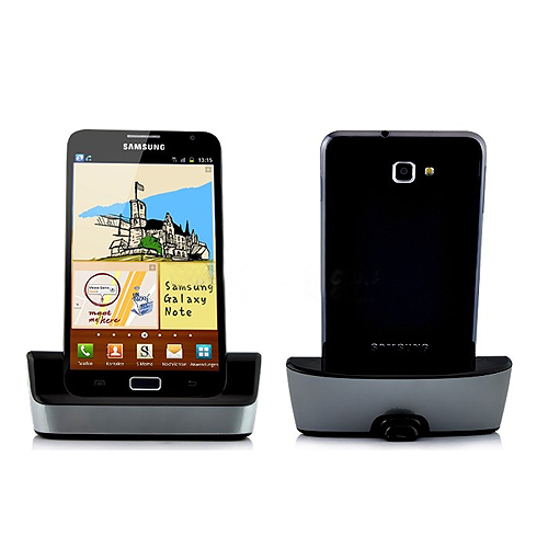 Portable Docking Station Adapter for Samsung Galaxy Note i9220 - Silver