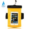Portable Waterproof Sport Armband Case Pouch for iPhone 4 4S 3GS 3G - Yellow