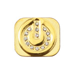 Power Switch Shaped Diamond Home Button Replacement for iPhone 5 - Gold