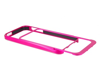 Pull-out Style Metal Frame for iPhone 5 -Rose