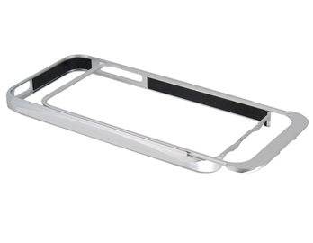 Pull-out Style Metal Frame for iPhone 5 -Silver