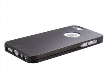 SZLF 2 in 1 Metal Frame with Matte Plastic Case for iPhone 5 -Black
