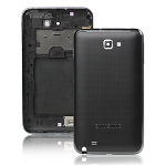 for Samsung Galaxy Note i9220 GT-N7000 Housing Back Cover with Middle Plate and Frame - Black