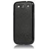 for Samsung Galaxy S3 i9300 aluminum replacement back cover-Black Leather