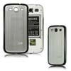 for Samsung Galaxy S3 i9300 aluminum replacement back cover-Silver/Black