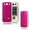 for Samsung Galaxy S3 i9300 aluminum replacement back cover-Rose/White